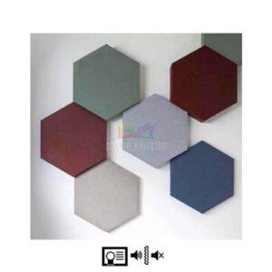 akustik altıgen panel