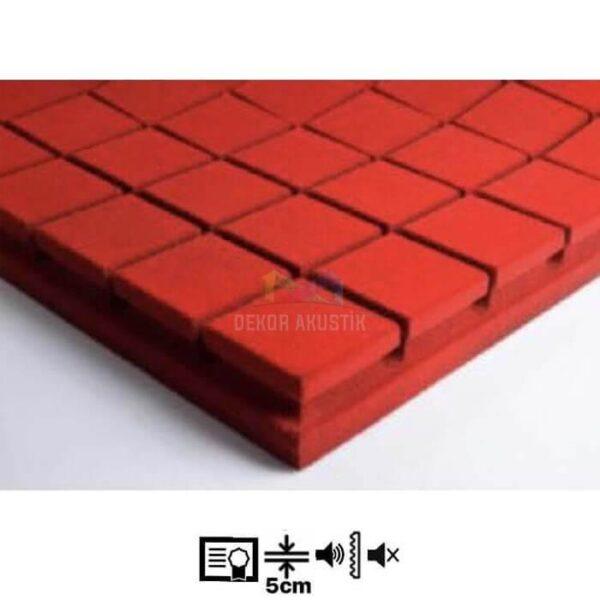 vicoustic flexi kare panel kırmızı